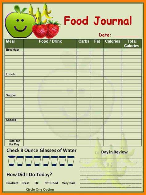 6 sample food diary template science resume