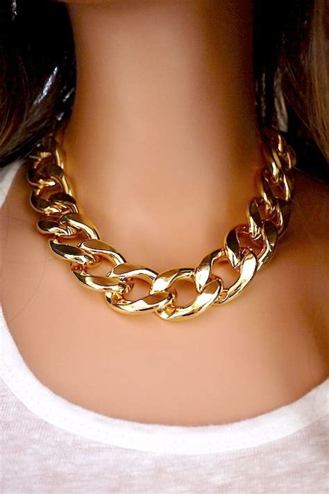 jewelry necklace chains chunky chain necklace add a edge to any