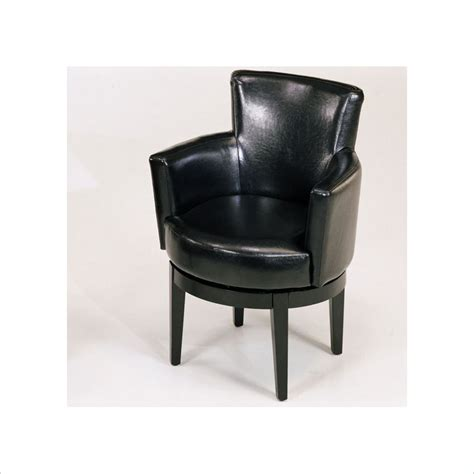 leather swivel club chair swivel leather club chair in black lc247arswbl