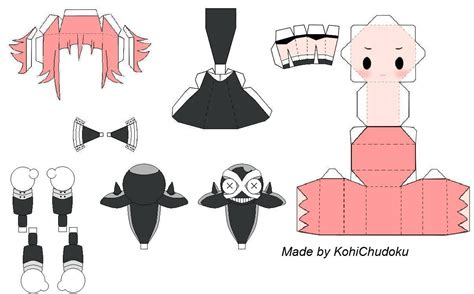 paper craft template paper crafts anime templates and