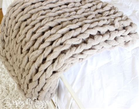 how to knit a blanket arm knit a blanket in 45 minutes simplymaggie