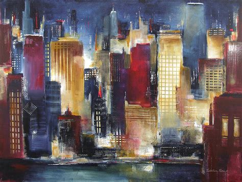 paint nite cities 25 abstract paintings ideas pictures images