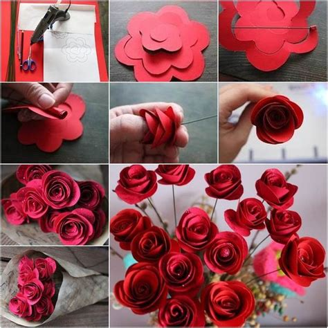 craft work using paper craft work with paper flowers step by step find craft ideas