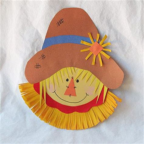 paper plate scarecrow craft 25 best scarecrow crafts ideas on november