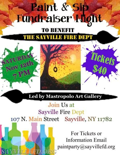 paint nite fundraiser paint at the sayville department sayville