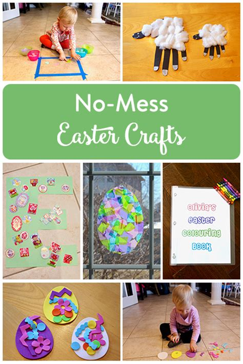 no mess crafts for no mess easter crafts for the inspired home