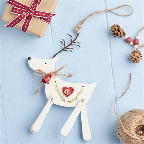 white reindeer decorations white nordic reindeer decoration by the home