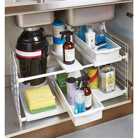 the kitchen sink organization maximize your cabinet space with these 16 storage ideas