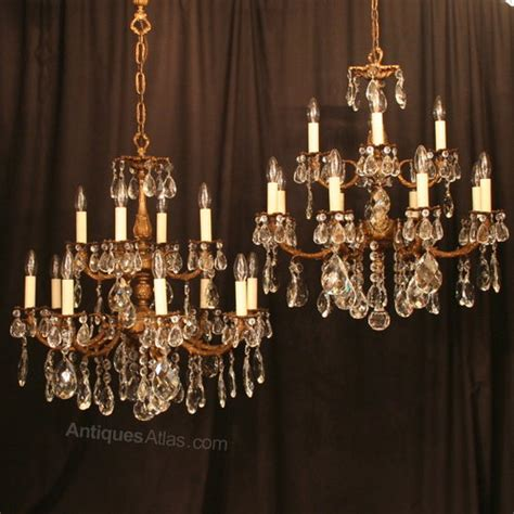 antique chandeliers antiques atlas an italian pair of 12 light antique