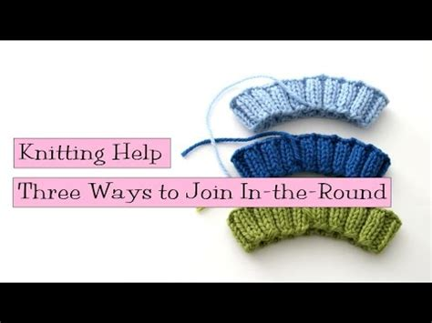 how to join rounds in knitting simple stretchy bind