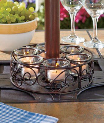 patio umbrella holder scroll patio umbrella candle holder candleholder home