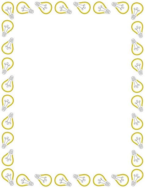 lights page border a page border featuring light bulbs free downloads at