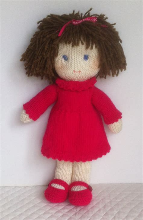 knitted rag doll patterns doll knitting pattern pdf instant