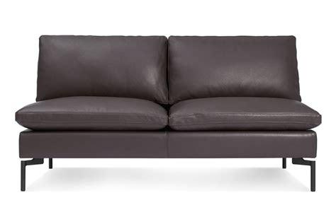 modern armless sofa new standard armless leather sofa hivemodern