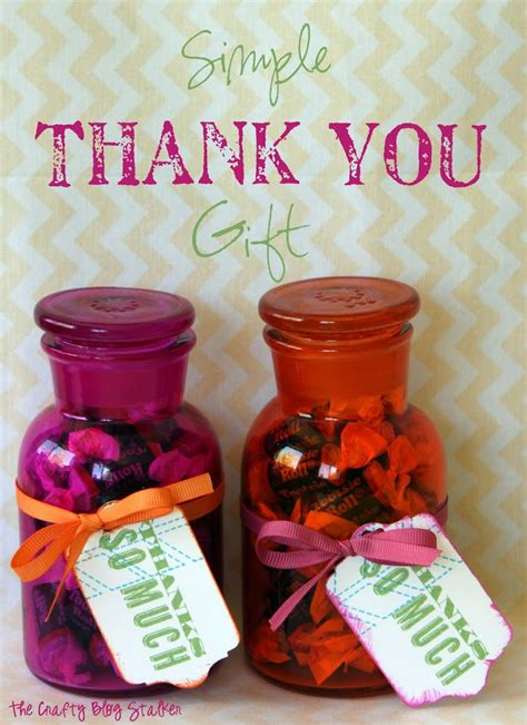 thank for gift simple thank you gift the crafty stalker