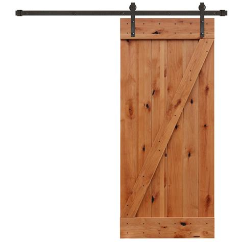 barn door and hardware pacific entries 36 in x 84 in rustic unfinished plank