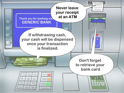 how to make atm card 3 ways to safely use an atm wikihow