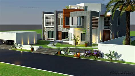 Bungalow Floor Plans Canada 3d front elevation com oman modern contemporary villa 3d