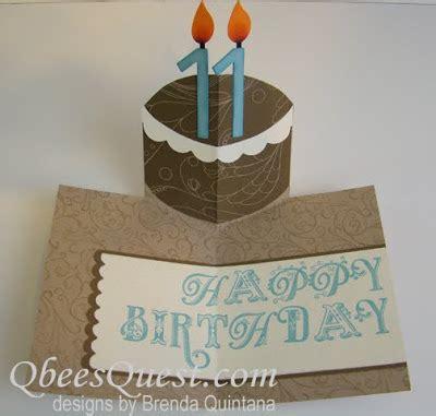 how to make birthday cake pop up card qbee s quest birthday cake pop up card