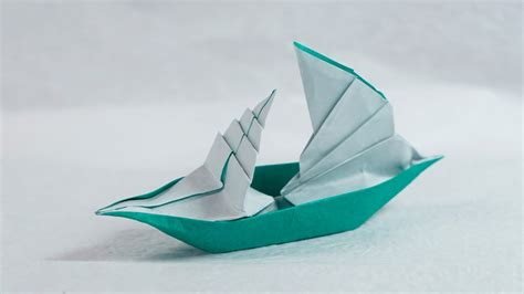 origami sailboat that floats paper boat that floats on water origami sailing boat