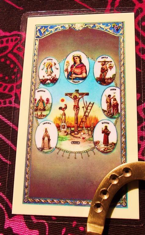 santeria meaning santeria prayer card bookmark or altar adornment by