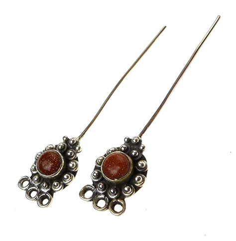 headpins jewelry goldstone headpins sterling silver and goldstone jewelry