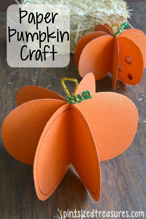 paper pumpkin craft easy paper pumpkin craft 183 pint sized treasures