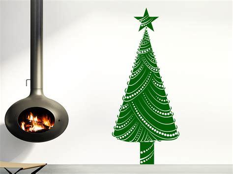 moderner weihnachtsbaum wandtattoo moderner weihnachtsbaum auf wandtattoo