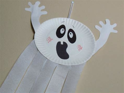 ghost craft for busy crafting how to make a paper plate ghost