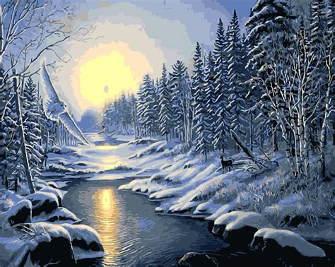 acrylic painting winter buy wholesale winter paintings from china