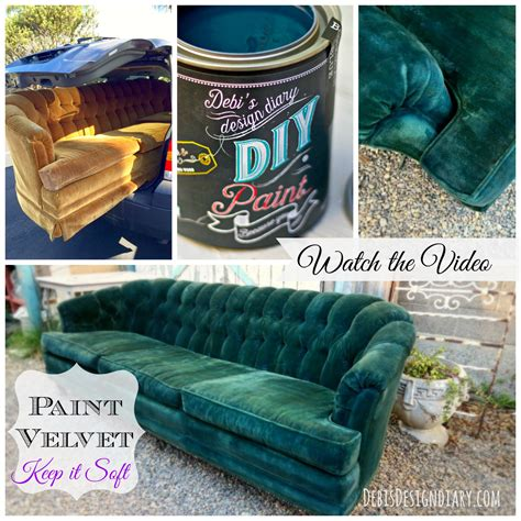 chalk paint velvet chair how to paint upholstery keep the soft texture of the