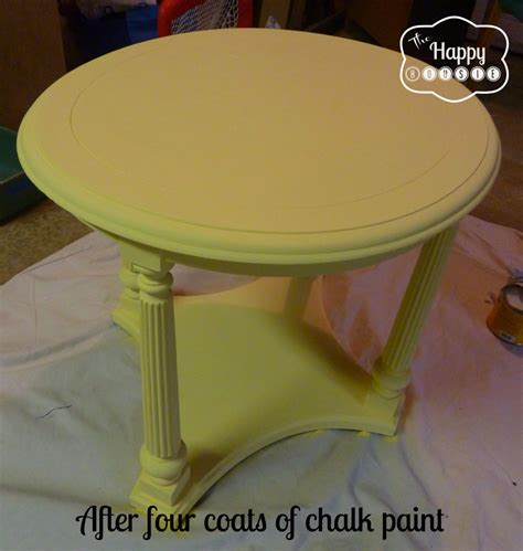 chalk paint diy table mellow yellow diy chalk paint side table the happy housie