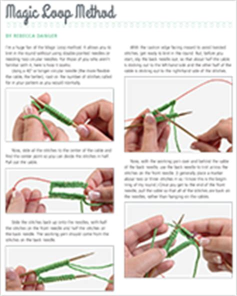 magic loop method of knitting help how to how to knit martingale