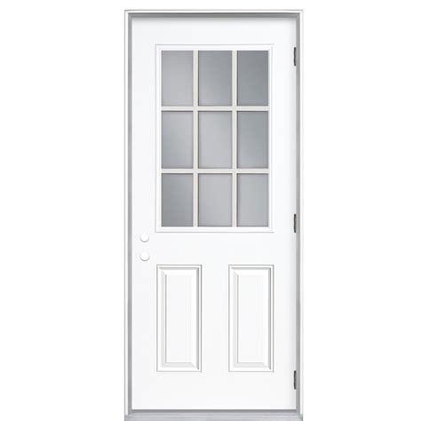 30 exterior door with window shop reliabilt 9 lite prehung outswing steel entry door