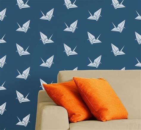 modern origami diy stencil origami crane modern reusable wall stencil