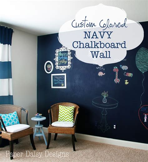 chalkboard paint navy blue paper designs true blue navy chalkboard wall