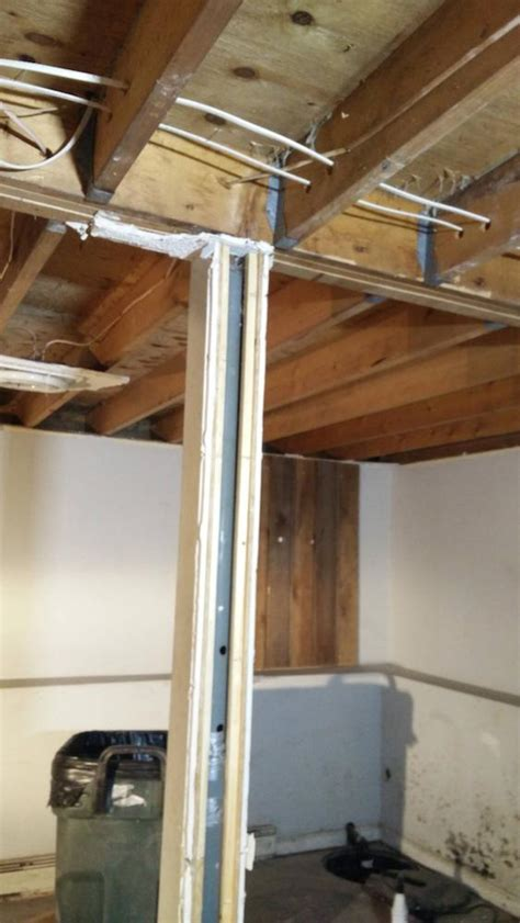 basement support posts installing permanent support column in the basement home