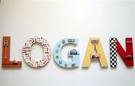 3 Letters Car Name by Disney Cars Wall Letters 3d Custom Wall Letters Boys Room
