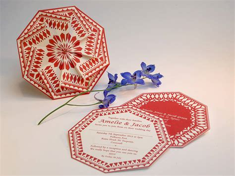 Origami Wedding Invitations By Anja