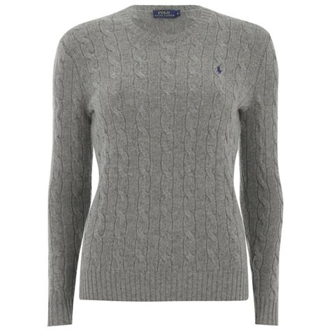 ralph womens knitted jumper polo ralph s julianna jumper fawn grey