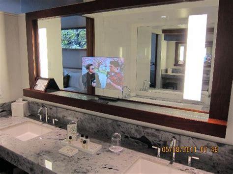 tv in the mirror bathroom tv in bathroom mirror