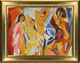 picasso paintings les demoiselles d avignon sticker tableau picasso les demoiselles d avignon