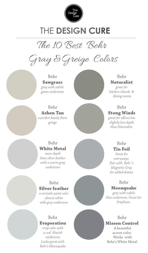 behr paint color evaporation a up list of our 10 best gray and greige colors by