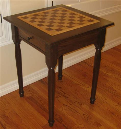 chess table woodworking plans chess table finewoodworking