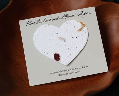 how to make seed cards popular funeral favors next memorials