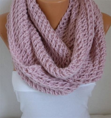 pink knit scarf dusty pink knit infinity scarfcustom scarf circle loop