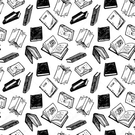pattern picture books books pattern stock vector 169 teploleta 74228463