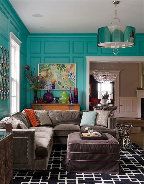 Paint Kitchen Island turquoise wall paint living room rustic with elephant