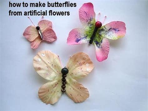 how to make from petals diy butterflies make butterflies from artificial flowers
