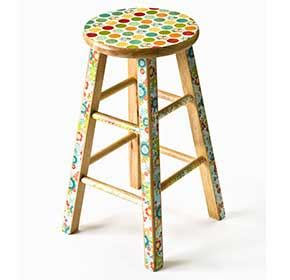 decoupage stool decoupage mod podged bar stool